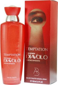 Diavolo Temptation by Antonio Banderas for Women. Eau De Toilette Spray 3.4-Ounces