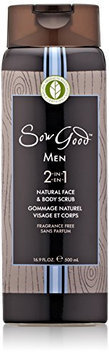 Sow Good 2-in-1 Natural Face and Body Scrub