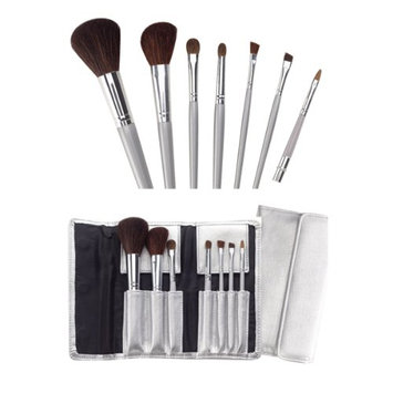 Marianna 7 Piece Cosmetic Brush Set with Silver Case