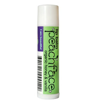 Peachface Sweetheart Lip Balm with Organic Honey and Vanilla