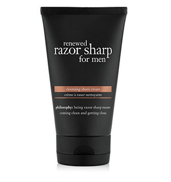 philosophy renewed razor sharp for men cleansing shave cream