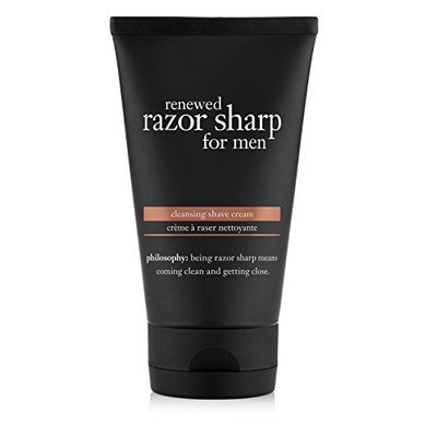 philosophy renewed razor sharp for men cleansing shave cream