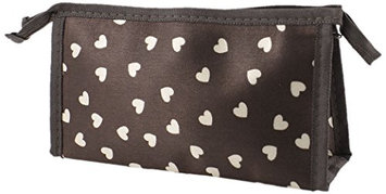 Uxcell Heart Prints Lady Cosmetic Bag Case Pouch