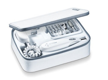 Beurer MPE 60 Electric Manicure Pedicure Kit w/Powerful Nail Drill and Toolbox