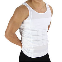 Beautyko Invisible Body Shaper Slimming Compresssion T-Shirt Posture Corrective Support and Firming Panels