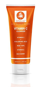 OZNaturals Facial Cleanser Contains Powerful Vitamin C - This Natural Face Wash Is The Most Effective Anti Aging Cleanser Available - Deep Cleans Your Pores Naturally For A Healthy