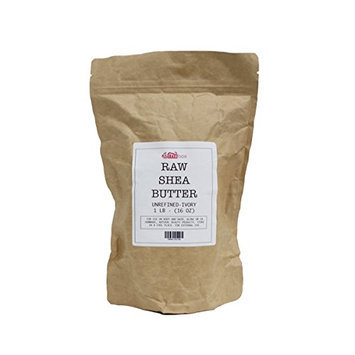 Miibox 100% Raw Unrefined Organic Shea Butter African Grade A Ivory from Ghana