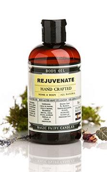 Magic Fairy Candles Rejuvenate Grapefruit Lemongrass Tangerine Bergamot all Natural Hand Crafted Body Oil 8oz