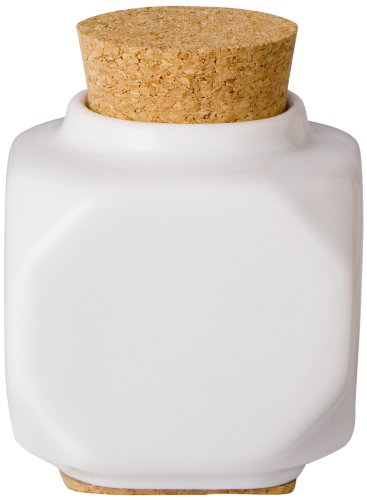 Young Nails Ceramic Dappen Dish with Cork White