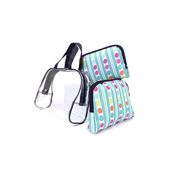 Argo Sport Stripes and Dots Cosmetic Bags
