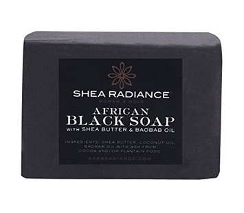 Shea Radiance Black Soap Cleansing Bar
