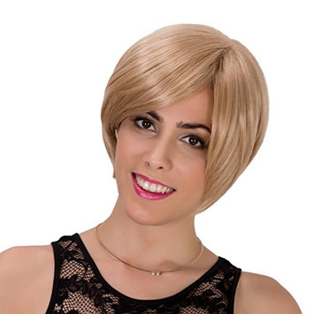 Probeauty Light Blonde Ultimost Bob Straight Synthetic Wig for Women Great Gatsby Wig