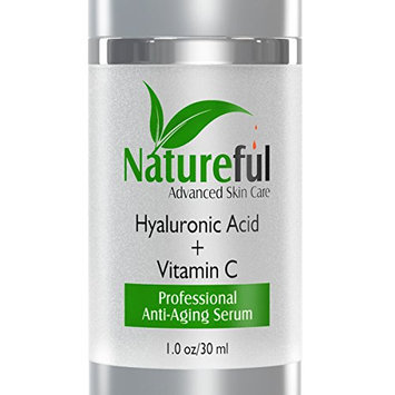 Hyaluronic Acid Serum with Vitamin C - 100 % pure 1 oz Beauty Anti Aging Skin Care Cream and Moisturizer Treatment for Your Face. Quality Topical Facial Solution with Vitamin C & E