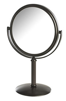 Model's Choice Dual-Sided 5X/1X Magnification Table Top Makeup Mirror