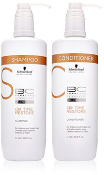 Schwarzkopf BC Time Restore Shampoo and Conditioner Liter Duo
