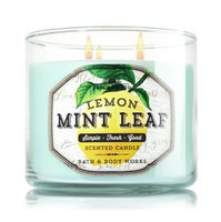 Bath & Body Works® Fresh Picked LEMON MINT LEAF 3-Wick Scented Candle