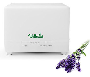 Welledia Effusion Ultrasonic Aroma Diffuser + Humidifier (700 ml) - Color Changing LED Light - 360 Rotation Mist Output - Works for 10 Hours - Advanced Ultrasonic Technology for Essential Oil Diffusion - Whisper-quiet Operation - Indludes Aromatherapy Diffuser