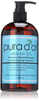 pura d'or Argan Oil Premium Organic Shampoo Scalp and Dandruff Treatment