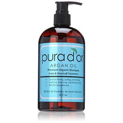 pura d'or Argan Oil Premium Organic Shampoo Scalp and Dandruff Treatment