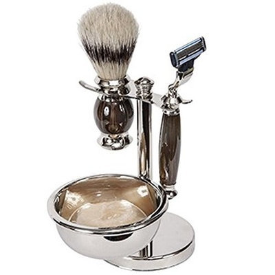 Harry D Koenig Mach III Shave Set with Soap