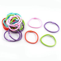 Uxcell 20 Piece Bead Decor Elastic Ponytail Holders Hair Bands