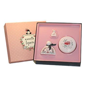 Nanette Lepore By Nanette Lepore For Women. Gift Set ( Eau De Parfum Spray 1.7 Oz + Enchanting Body Cream 6.8 Oz+ Parfum Miniature Collectible 0.10 Oz ).