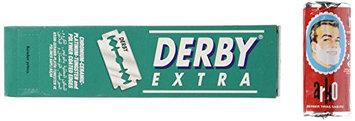 Derby 100 Extra Double Edge Razor Blades and Free Arko Shaving Cream Soap Stick