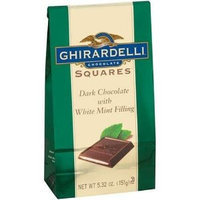 Ghirardelli Squares Dark Chocolate with White Mint