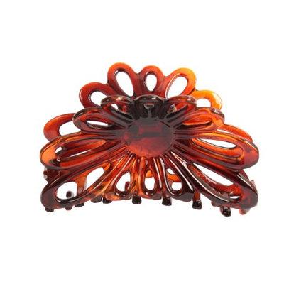 Caravan French Flare Open Sun Flower Hair Claw Tortoises Shell