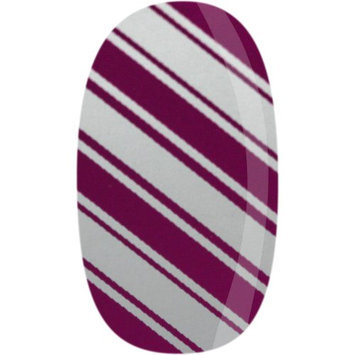 Skinz Nail Decals 24 Count Silver and Pink Stripes