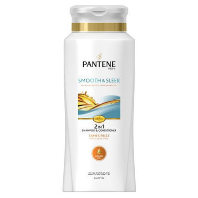 Pantene Smooth & Sleek 2-in-1 Shampoo & Conditioner with Argan Oil