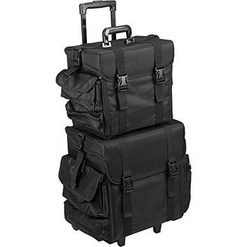 Hiker T5173 2-in-1 Soft Sided Professional Rolling Trolley Makeup Artist Cosmetic Case