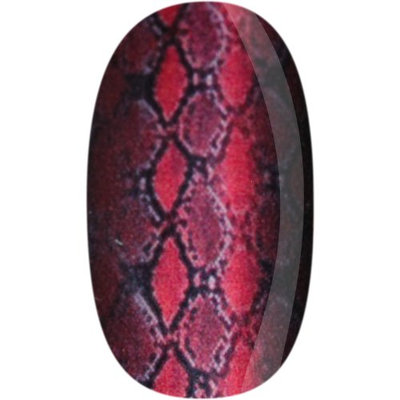 Skinz Nail Decals 24 Count Red Snake Skin