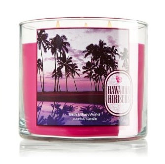 Bath Body Works Hawaiian Hibiscus 3 Wick Candle