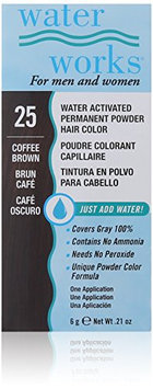 Waterworks Permanent Powder Hair Color #25 Coffee Brown