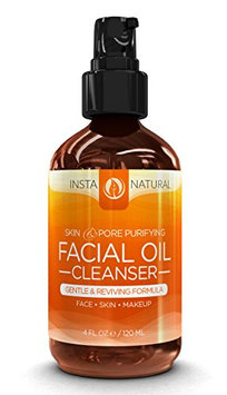 Facial Oil Cleanser & Makeup Remover - 100% Natural & Organic Face Wash & Moisturizer That Exfoliates & Cleanses Pores - Suitable for Acne