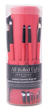 Danielle Enterprises 7 Piece Makeup Brush Set in Roll Up Pouch