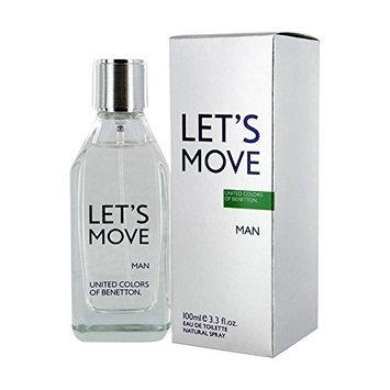 United Colors of Benetton Let's Move Man Eau de Toilette Spray for Men