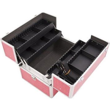 JustCase 4-Tiers Extendable Trays Pro Cosmetic Makeup Case with Dividers