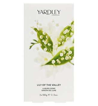 Lily of The Valley by Yardley of London for Women Luxury Soap 3.5 Ounce (Pack of 3)