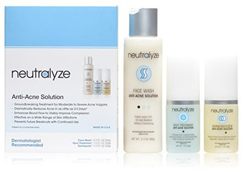 Neutralyze® Moderate to Severe Acne Treatment 60 Day Supply - Dramatically Reduces Acne in as Little as 2-3 Days - Complete System Includes Face Wash