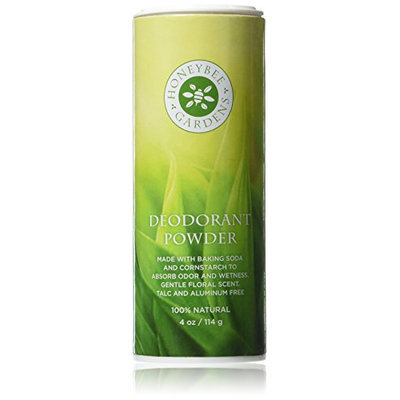 Honeybee Gardens Mens Deodorant Powder Bay Rum