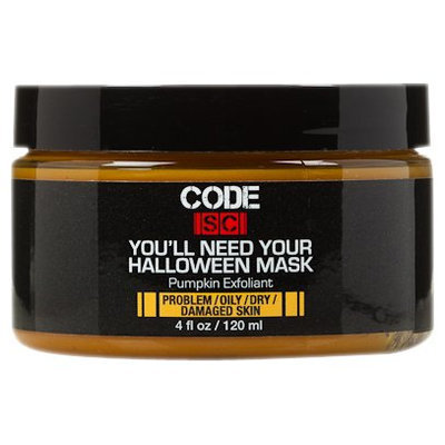 Code Sc You'll Need Your Halloween Mask Pumpkin Exfoliant