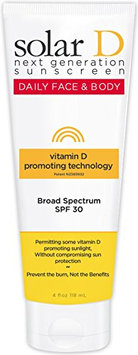 Solar D Sunscreen Face & Body SPF 30 Sunscreen