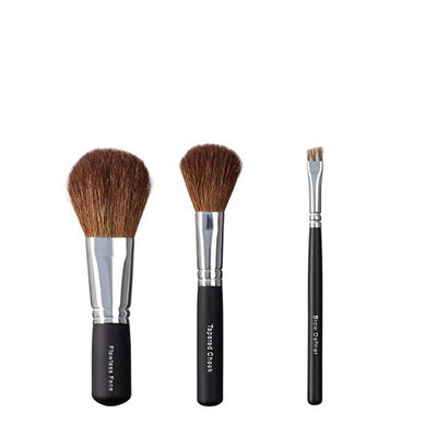 ON&OFF Trio Flawless Face/Tapered Cheek and Brow Definer Brush