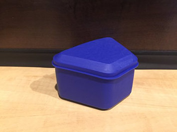 Pureline Oralcare Denture Container Capable of Soaking a Complete Upper and Lower Denture ROYAL BLUE