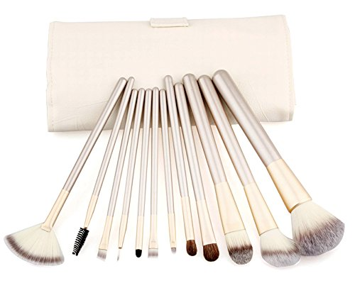 LifePlus Putwo Make Up Brushes 12 Piece Set with Makeup Kit - White