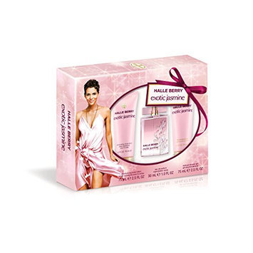 Halle Berry Exotic Jasmine 3 Piece Gift Set (1 Ounce EDP Plus 2.5 Ounce Body Lotion Plus 2.5 Ounce Shower Gel)