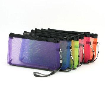 Uxcell 6 Piece Mesh Design Zipper Ladies Makeup Bag