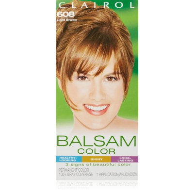 Clairol Balsam Hair Color 608 Light Brown 1 Kit (Pack of 3)
